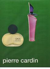 Publicité  Advertising //   parfum CHOC de pierre CARDIN
