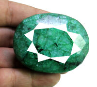 670ct Natural Faceted Oval Shape Cut Faceted Green Emerald  Loose Gemstone Gems