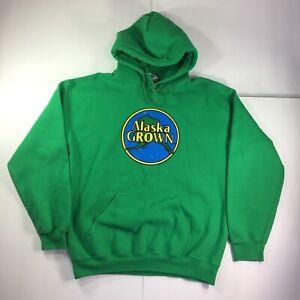 Alaska Grown Green Adult Pullover Hoodie Sweatshirt M