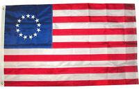 2x3 Ft EMBROIDERED BETSY ROSS 13 STAR NYLON US STARS & SEWN STRIPES USA FLAG