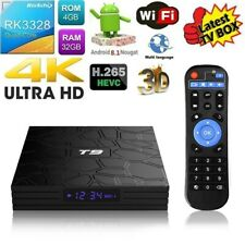 T9 4K HD Android 8.1 TV BOX RK3328 Quad Core 4GB/32GB USB 3.0 WiFi Media BT4.0