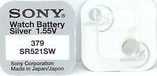 Sony 379 SR521SW V379 D379 618 ja 280-59 SB-AC/DC SR521SW SR63 Watch Battery