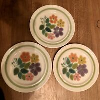 "SET (3) Franciscan Earthenware FLORAL Dinner Plates 10 1/4"" Floral"