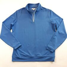 Peter Millar Blue Adult Medium 1/4 Zip Sweatshirt Golf Golfer Soft Mens