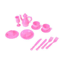 12X Mini Plastic Tableware Knife Dishes For Barbie Doll House Furniture Decor IO