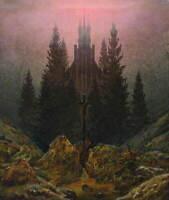 Caspar David Friedrich A Halt In The Wilderness Poster Giclee Canvas Print
