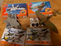 Airfix Quickbuild Lot Spitfire And F-22 Raptor