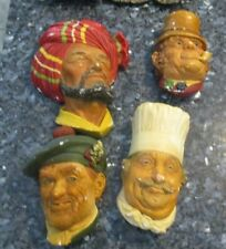 Lot of (4) Vintage Bosson Heads - Jock, Paddy, Chef and Abdul
