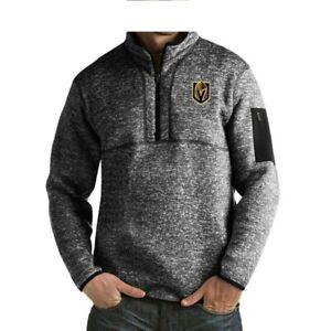 Las Vegas Golden Knights Fleece Pullover Jacket Antigua Fortune Men's Size Small