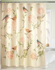 Song Birds and Blooms Floral Bathroom Polyester Shower Curtain