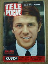Télé Poche n° 153 15 janvier 1969 Adamo