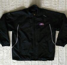 Reebok NHL Hockey Bud Light Mens Size Large Jacket Black Zip Front Athletic