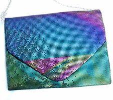 Women's Clutch Multi color Bling Purse Cross body Wristlet Shoulder / Sling Bag