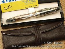 Pilot (NAMIKI) Custom 823 Brown Smoke Medium-nib & Pensemble Single pocket Brown