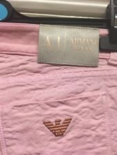 ARMANI Jeans pink and rose gold raised floral stretchy women's jeans RRP £195