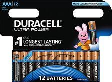 12 Duracell Ultra Power AAA / Micro / MX2400 Alkaline Batterien im 12er Blister