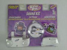 Intec Nintendo game Boy Advance Stereo Speakers FM Radio Ear phones white