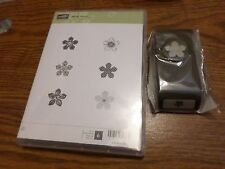 STAMPIN UP PETITE PETALS 6 PC CLEAR STAMP SET & PETITE PETALS PUNCH