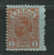 Serbia Kingdom 1900 ☀ 1 Dinar stamp ☀ MH