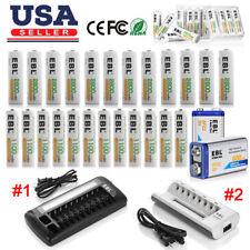Lot Aa Aaa 9V Ni-Mh Ni-Cd Li-ion Rechargeable Battery Charger/ Aa Aaa 9V Battery