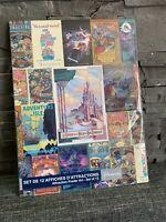 Set 12 Affiches Posters attractions Disneyland Paris Neuf Et Scellé
