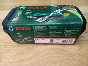 Bosch Isio Cordless Shape & Edge Bush and Hedge Trimmer 3.6v. New. Unused