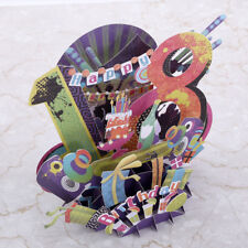 3D 18th Birthday Greeting Card Cartoon Gift For Friend Happy Postcard Envelope