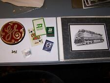 GE BN BNSF Diesel Locomotive Builder / Builders Plate Railroad Dash9 UP SF SP