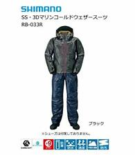 SHIMANO Fishing Winter Clothes SS 3D Marine Cold Weather Suit RB-033R Black EMS
