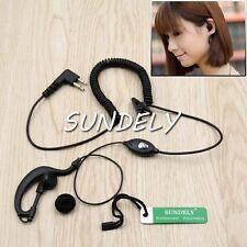 Clip Ear Earpiece Headset MIC for MOTOROLA P110 GP300 GP68 P1225 CP200 -US STOCK