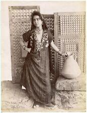 Gabriel Lekegian - Femme Fellah - Tirage albuminé 1880 - Egypte -