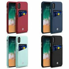 952bbd85d Cobble Pro Credit Card Slot Holder Leather Back Case Cover for Apple iPhone  X/XS
