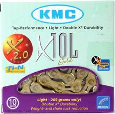 KMC X10L Gold Ti-N 10-Speed Road/MTB Bike Chain 116L fit Campagnolo Shimano SRAM