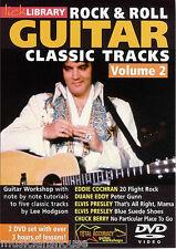 Bibliothèque lécher Rock & Roll pistes classique Elvis Eddie Cochran GUITARE VOL 2 DVD