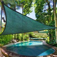 16.5' UV Proof Triangle Medium Sun Shade Sail Pool Outdoor Deck Yard Cover Green