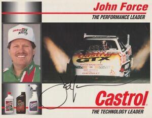 1994 John Force signed Castrol Chevy Lumina Funny Car NHRA Hero Card