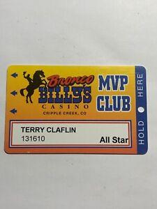 Bronco Billy's Casino Slot Card Vintage Cripple Creek Colorado