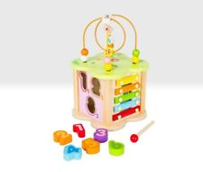Wooden Play Garden Cube with Activities, Xylophone, Bead Maze, Mirror, 18 Months