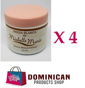 4 UNITS Michelle Marie Skin whitening cream Magia blanca 2.5 ozs Dominican CREAM