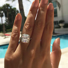 Certified 3.50Ct Cushion Cut Diamond Halo Engagement Ring in Real 14K White Gold