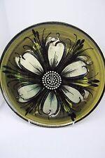 Alvingham Pottery Plate Green 23.5 cm Diameter Hand Thrown Hand Painted British