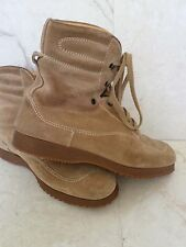 HOGAN authentic tan sand suede modern hiking rubber sole boots 40.5 8