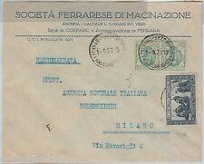 63993 - ITALIA  Regno - STORIA POSTALE:  BUSTA PUBBLICITARIA  Ferrara 1927