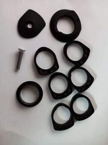 Colnago Bicycle Cycle Bike R41 Headset Spacers & Bearing Cover Black - 5 MM