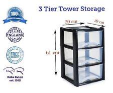 New Plastic Large Tower Storage Unit Boxes Box Pullout Drawer Set Garage Kitchen
