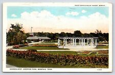 Garden Spot at Overton Park in Memphis, Tennessee Early Postcard