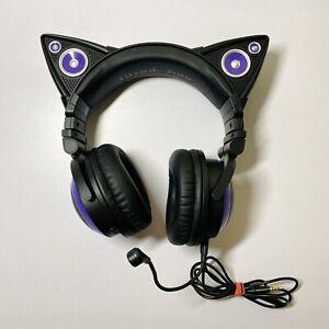 BROOKSTONE Axent Wear CAT EAR HEADPHONES - Purple