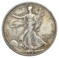 XF+ 1940-S Walking Liberty 90% Silver US Half Dollar - NICE COIN *906