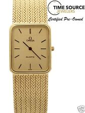 Vintage Omega Quartz 14K Yellow Gold 24 X 29mm gold Dial 58 gram Watch