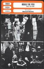 FICHE CINEMA : BOULE DE FEU - Cooper,Stanwick,Hawks 1941 - Ball of Fire